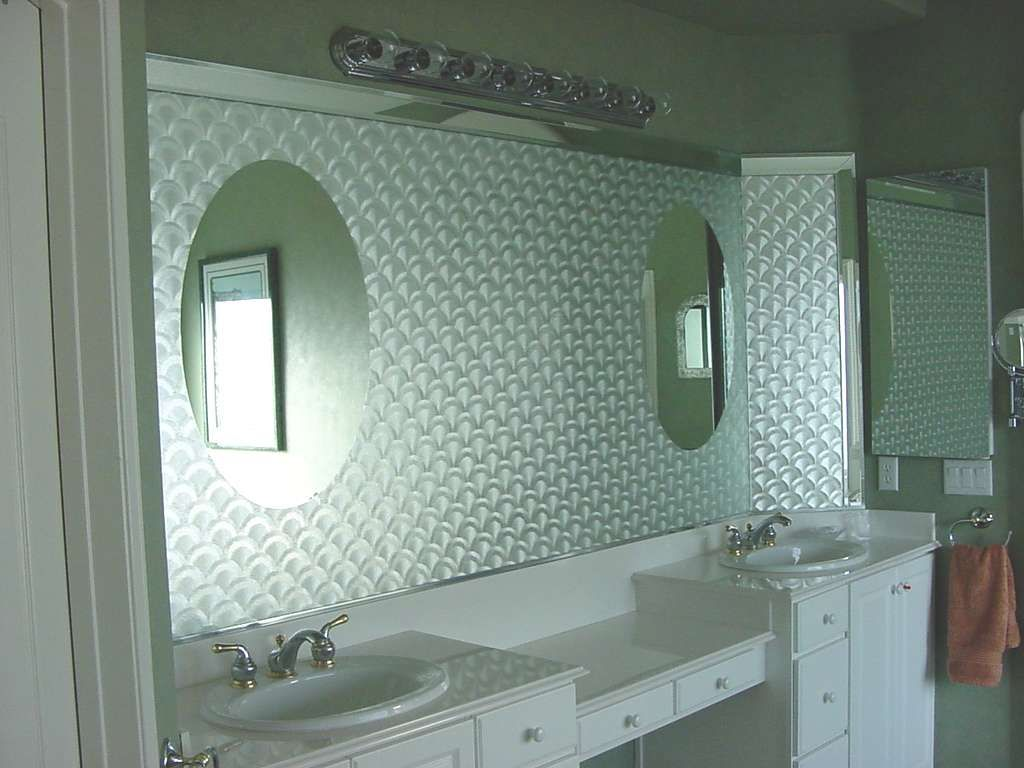 Unique way to help an old mirror.