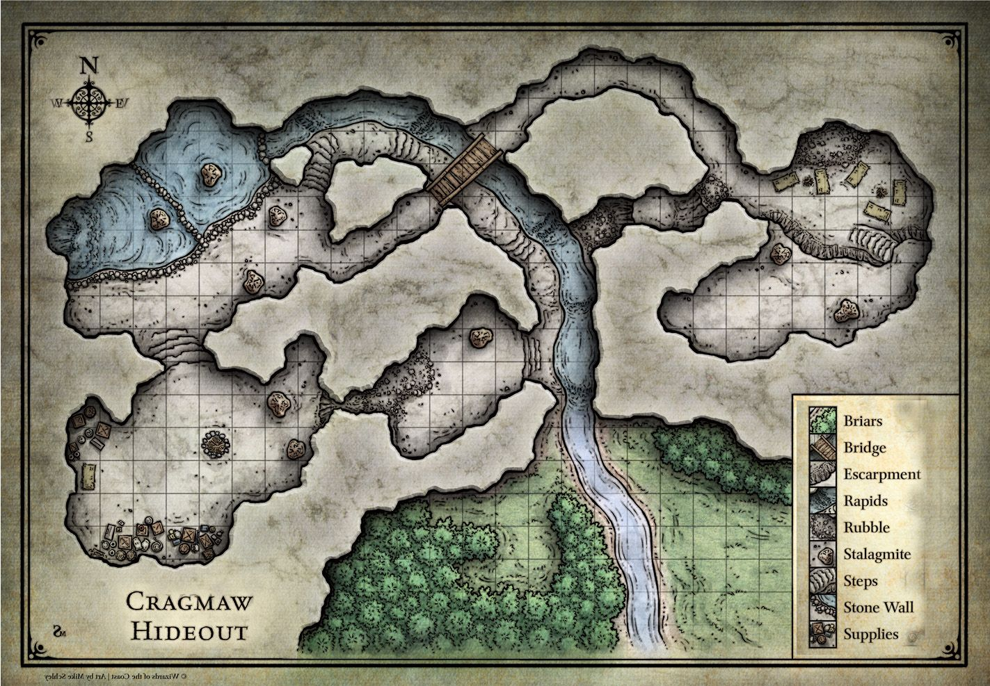 photo relating to Cragmaw Hideout Printable Map called Pin via david upon desk greatest maps within just 2019 Dungeon maps