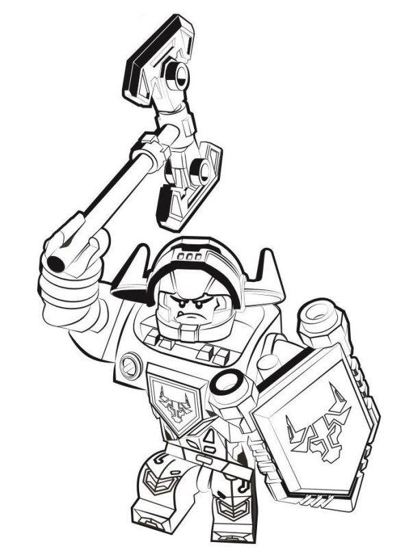 ausmalbilder lego nexo knights