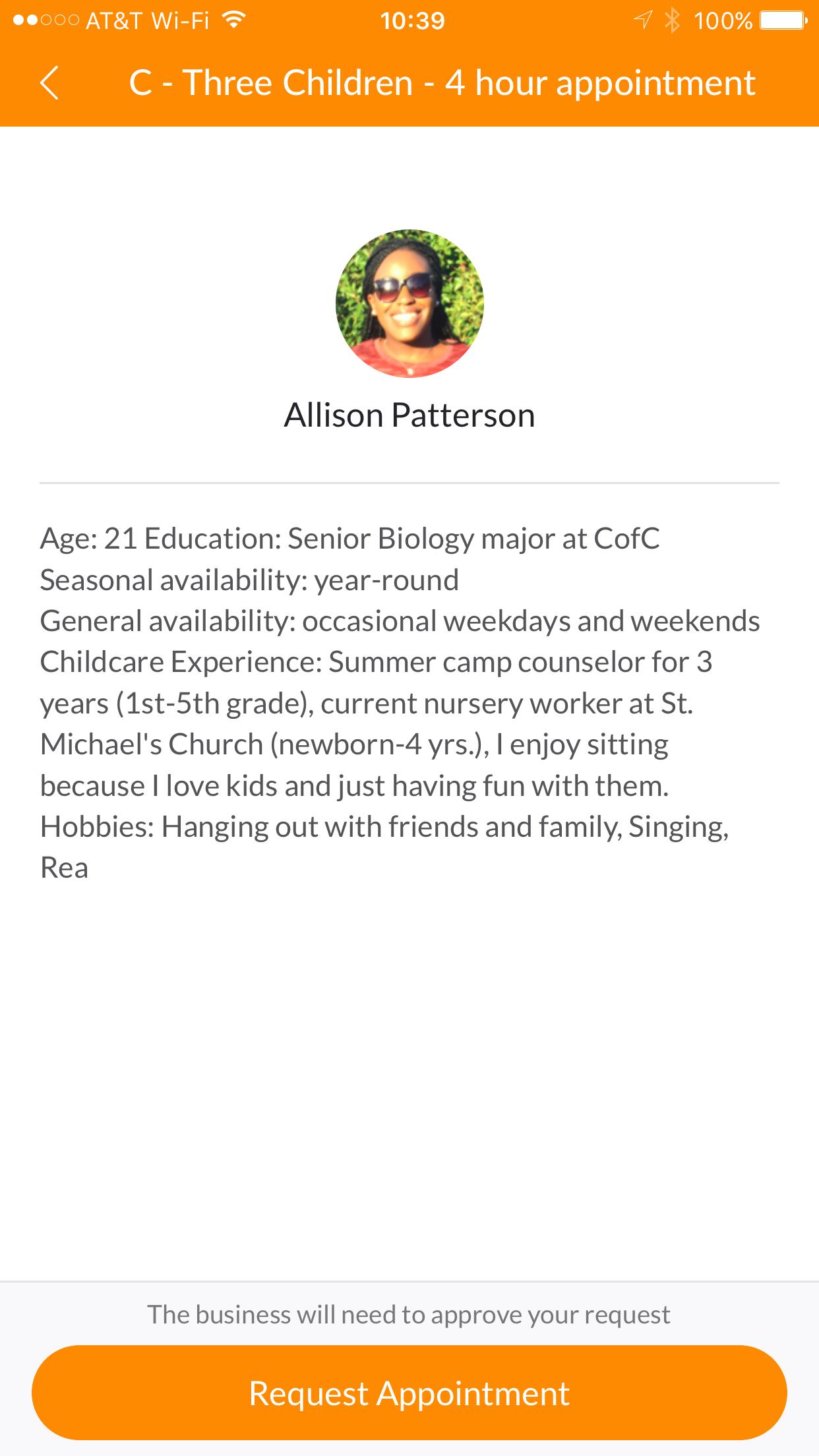 Nannypod Babysitter Weekly Profile Meet Allison Patterson