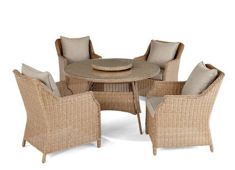 hometrends Devon 6 Piece Dining Set with Lazy Susan