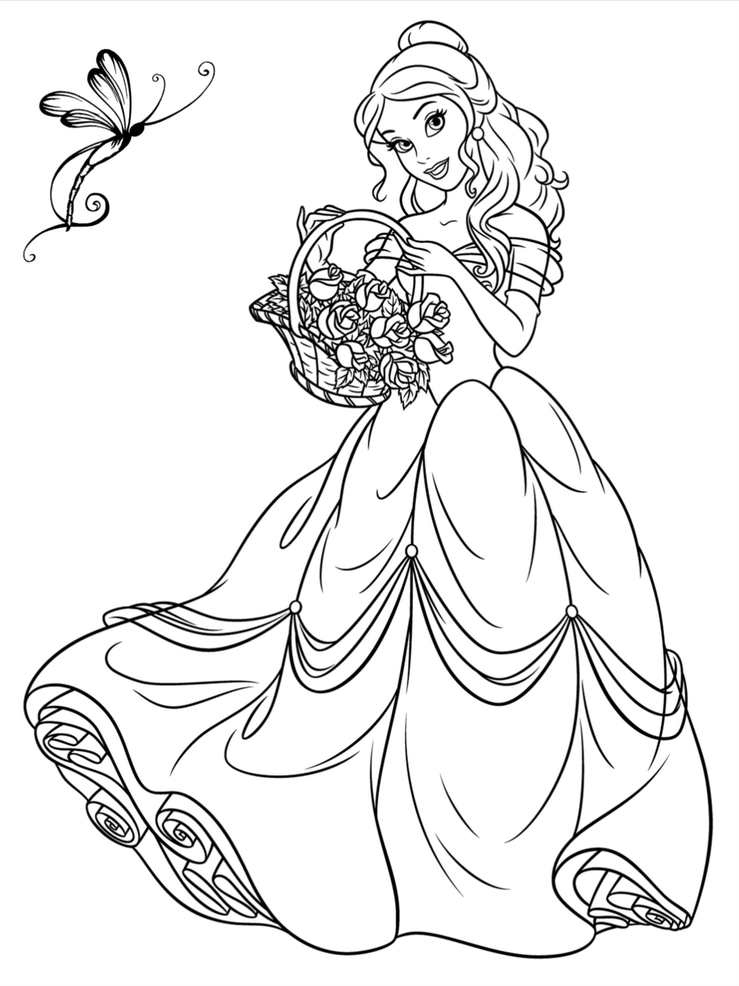 100 Princess Coloring Pages For Kids Disney Princess Coloring Pages Princess Coloring Princess Coloring Pages