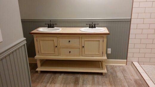 Furniture Like Distressed Vanity | Vanity, Bathroom vanity ...