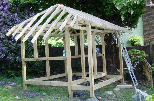 Build a Japanese Tea House assembling the roof – Japanese Tea House Building Plans