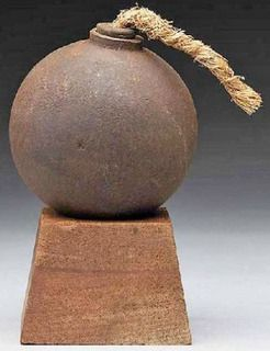A Civil War hand grenade, circa 1860, cast iron, | ideas ...