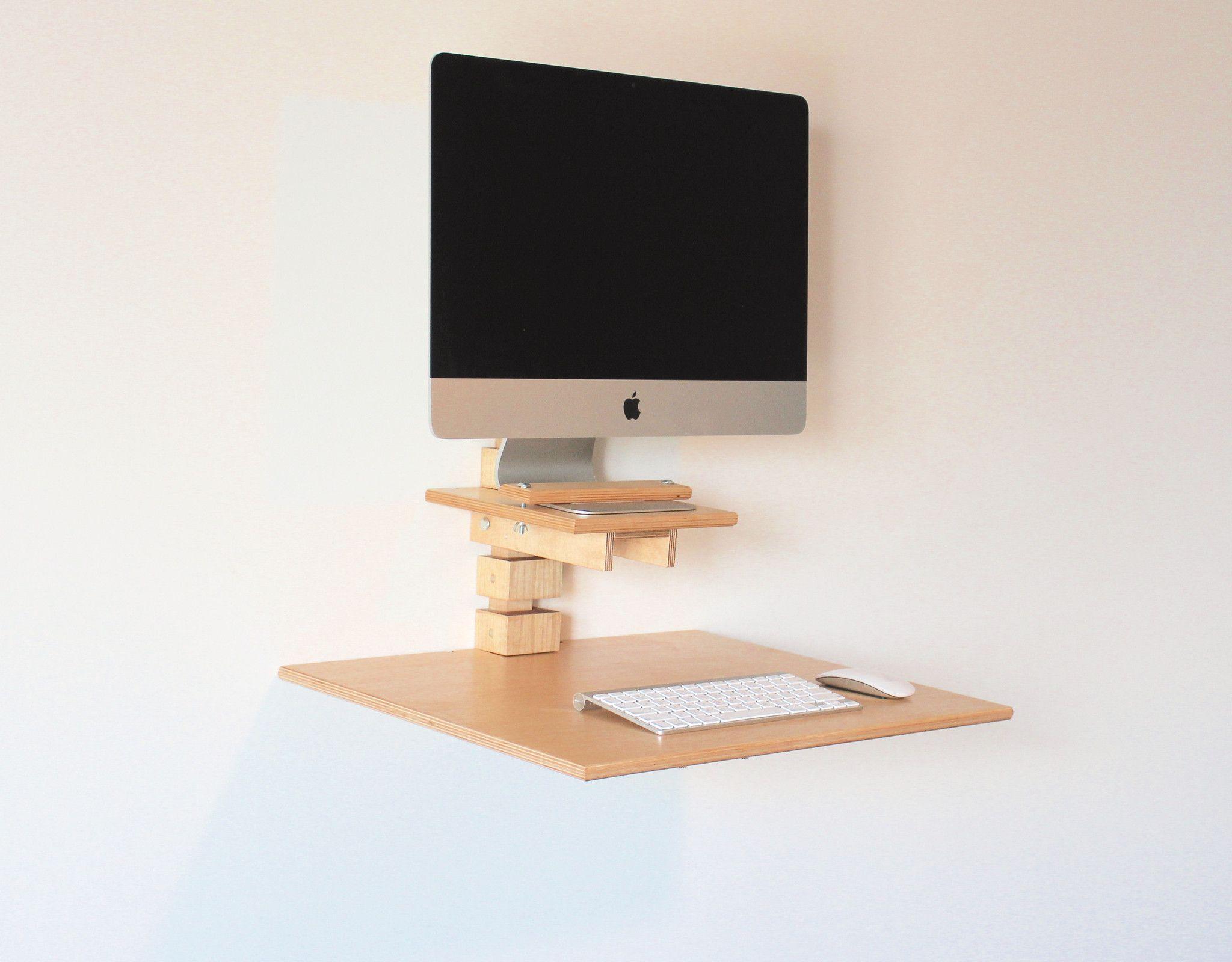 wall mounted standing desk imac model startup office pinterest rh pinterest com wall mounted standing desk ikea wall mount standing desk