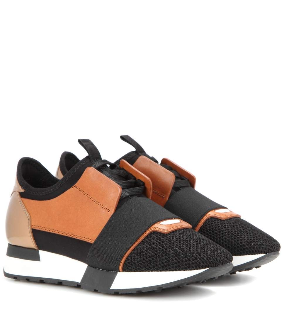 Balenciaga Race Runner Leather And