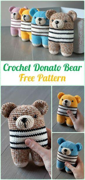 Amigurumi Crochet Teddy Bear Toys Free Patterns   Miniaturas y Ganchillo