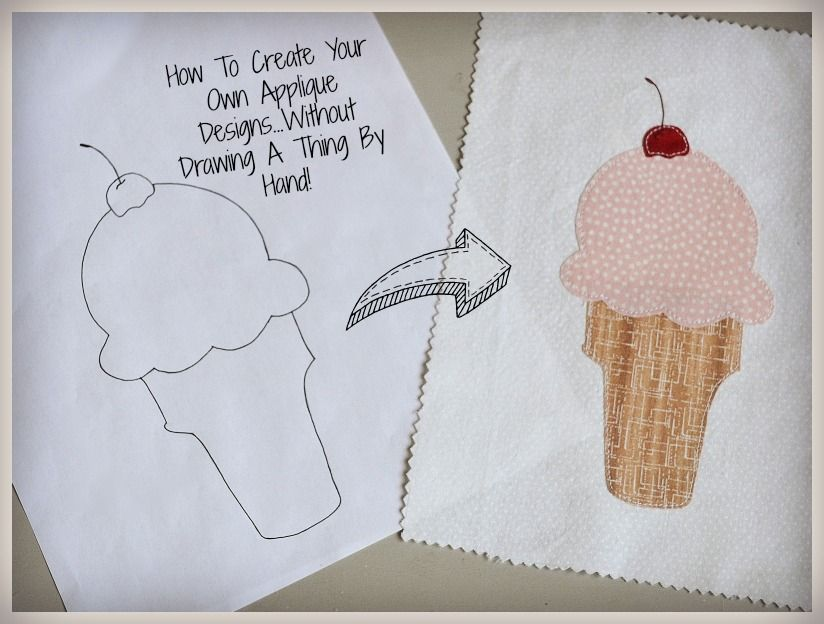 How To Create Your Own Applique Designs Without Drawing A