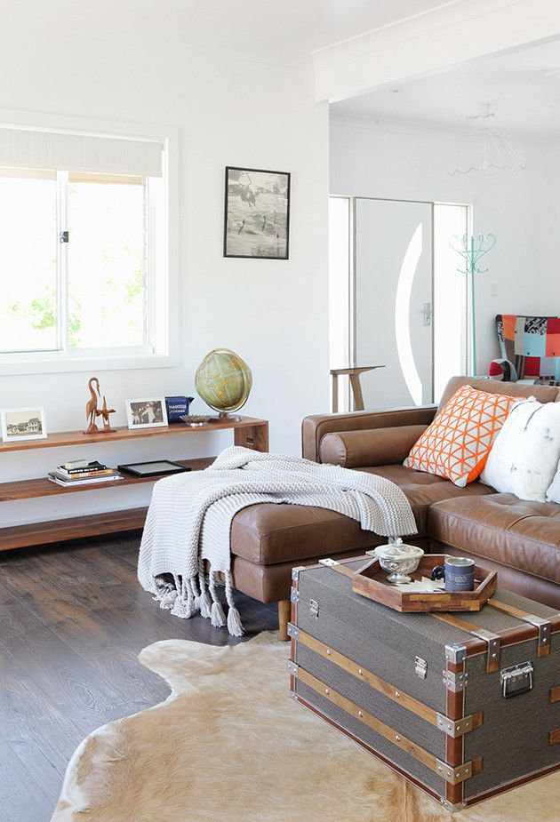 Entry, Living Room 3 Zones In One. The Coffee Table Trunk Is Superb And The  Console And Trinkets On The Other Wall