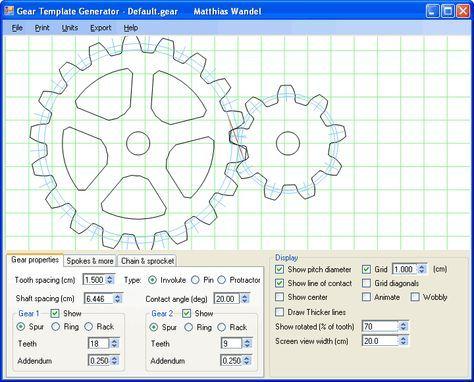 Gear template generator program. Cogs. Gears. Mechanics. Machines ...