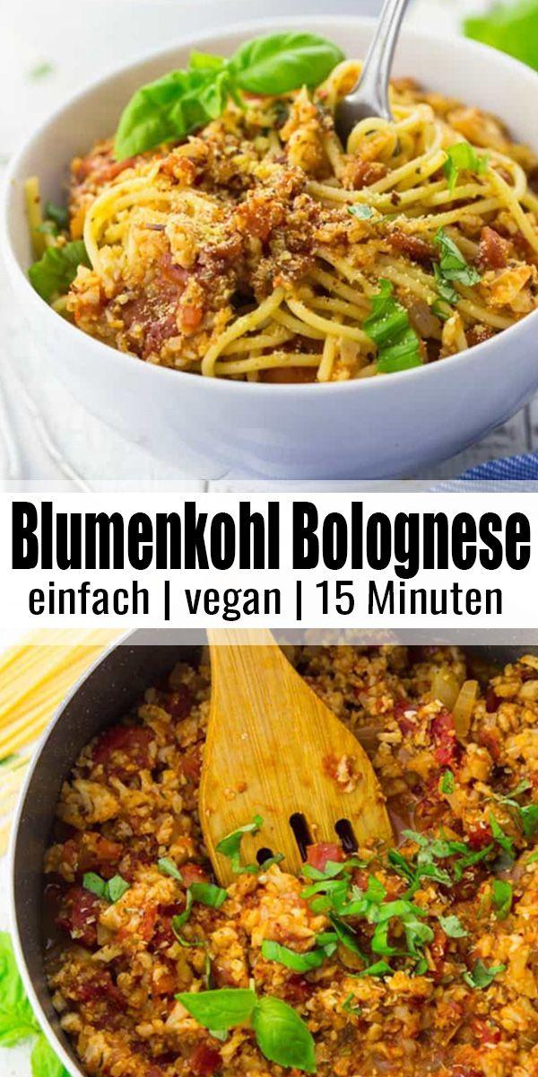 Vegane Blumenkohl Bolognese