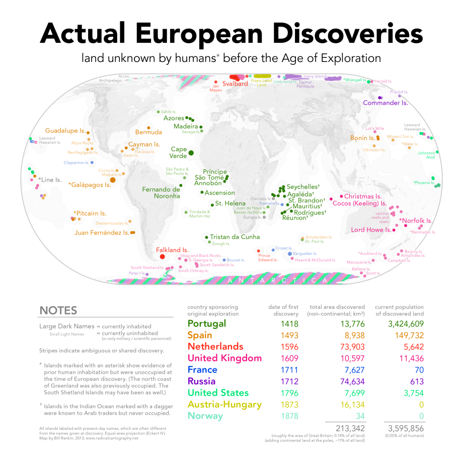 The Places Europeans Actually Discovered Mapped Early Humans