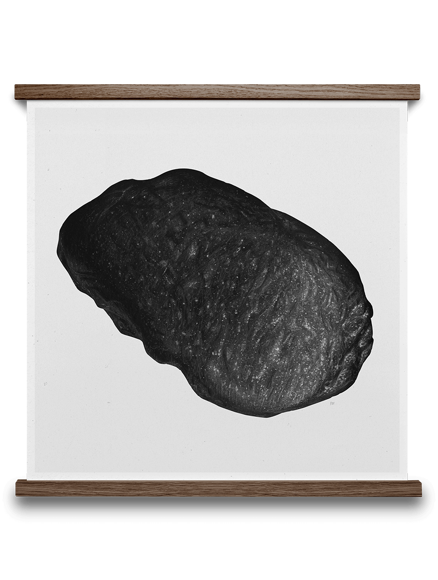 ROCK 50/50 C BY BØRGE BREDENBEKK. Buy print at https://paper-collective.com/product/rock-5050-c/ #papercollective #art #illustration #drawing #nature #monochrome #grey #print #poster #posterdesign #design #interior #home #decor #homedecor #wallart #artprint