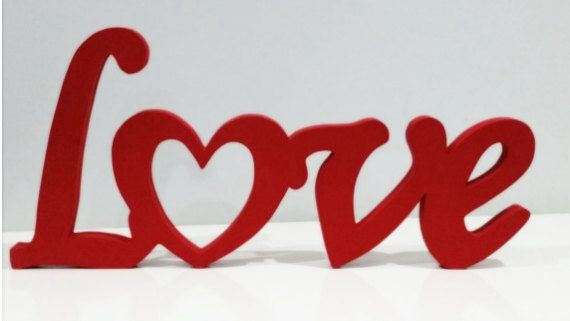 Love Decor Signs New Wood Word Sign Love Decorative Script Woodenwordsfromwales Inspiration