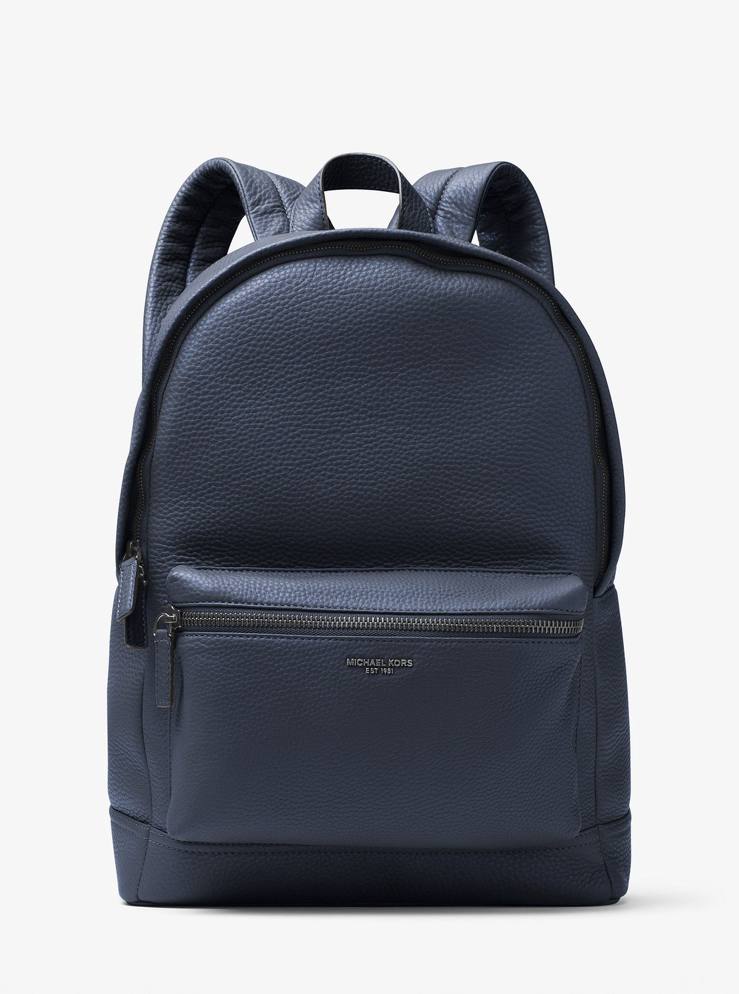 Michael Kors Bryant Leather Backpack Navy | Leather