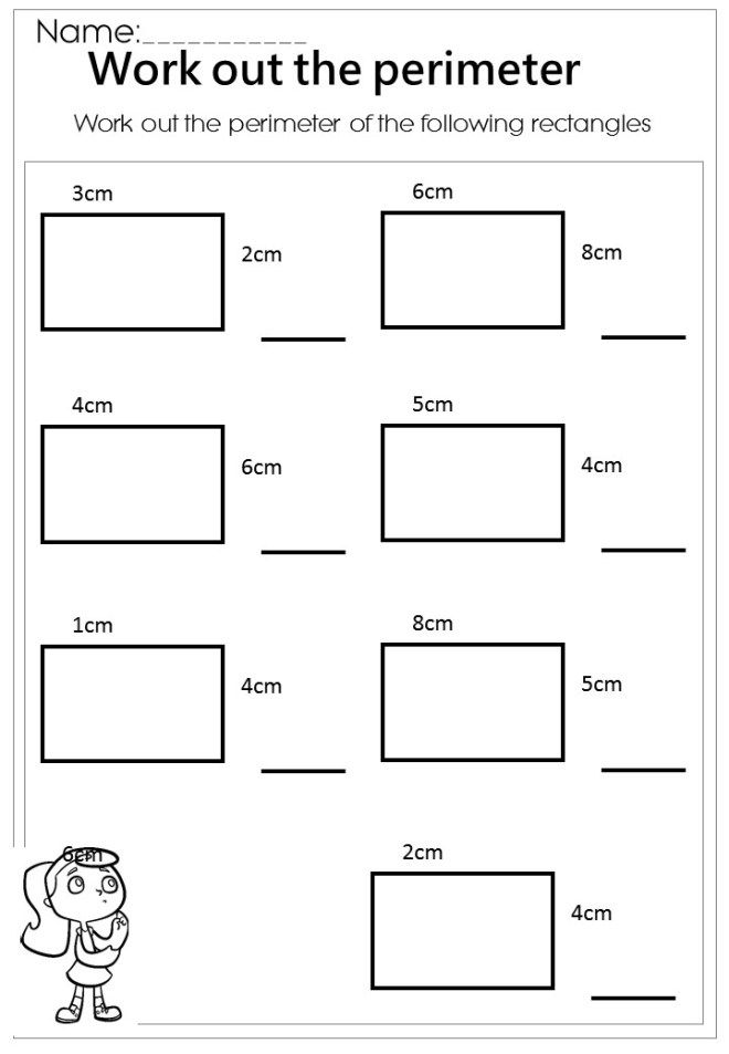 Free Work Out The Rectangle Perimeter Worksheet