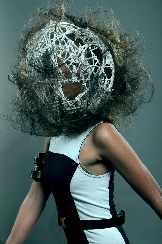 My first avant garde hair shoot! Follow me on Instagram: damianevans12