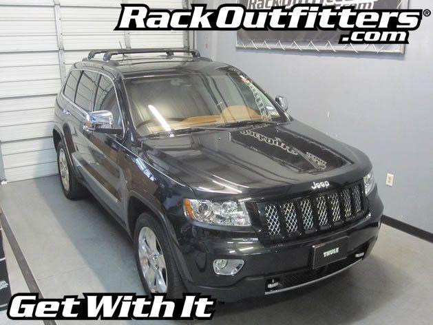 Jeep Grand Cherokee Thule Black Aeroblade Edge Roof Rack 11 16