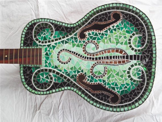 EVOLUTION MOSAIC GUITAR by racman on Etsy, $700.00