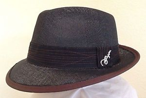 36cb9c0b86d64 CARLOS-SANTANA-MEN-BLACK-FEDORA-HAT-M-or-XL-NEW-TOYO-STRAW-SUMMER-SUN-PANAMA
