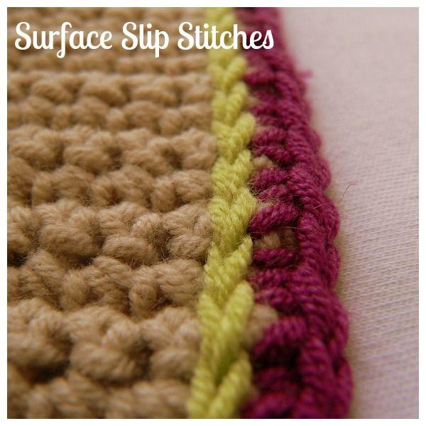 Surface Slip Stitches Crochet | trapillo ♥ | Pinterest | Trapillo
