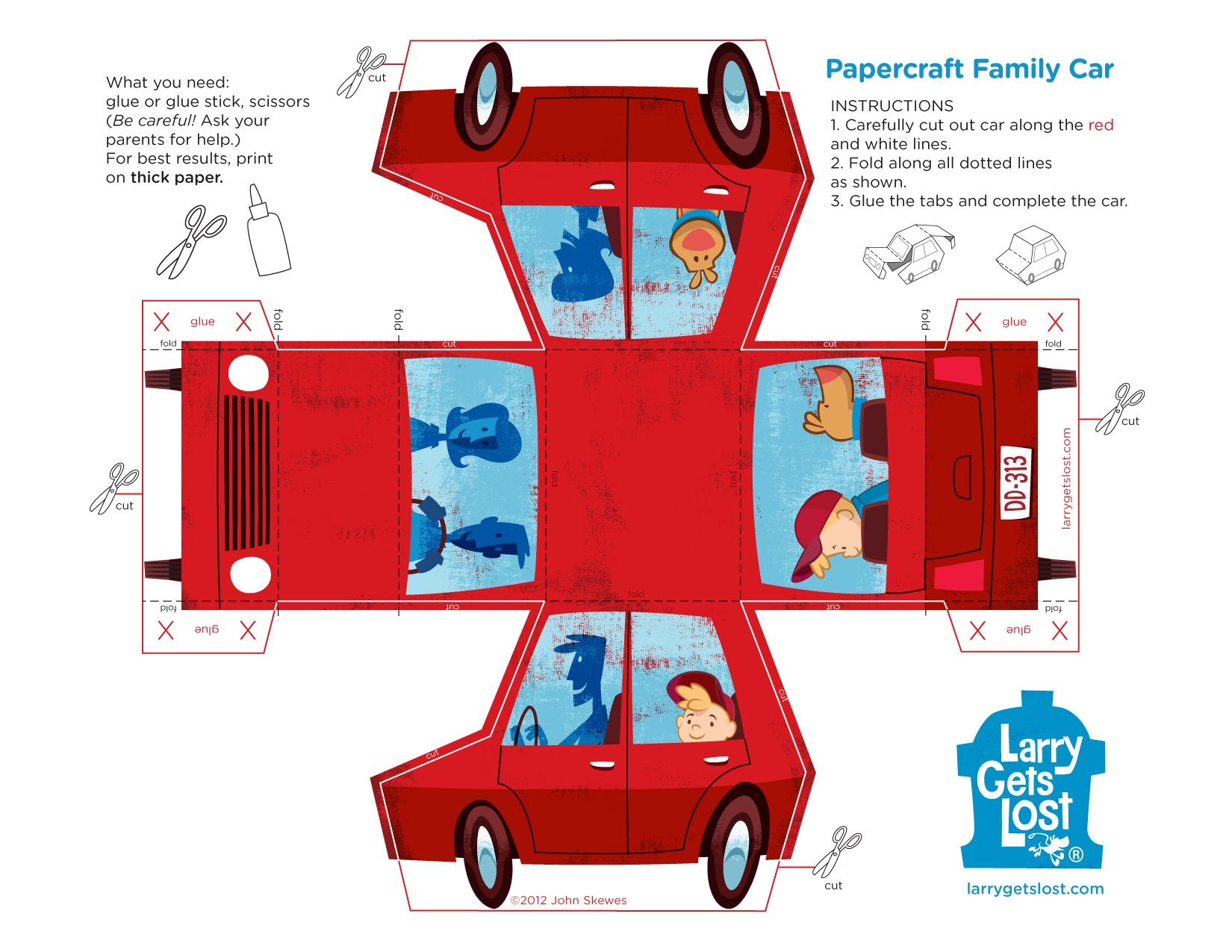 Paper Car Print Out Activity Pages Pinterest – Printable Car Template