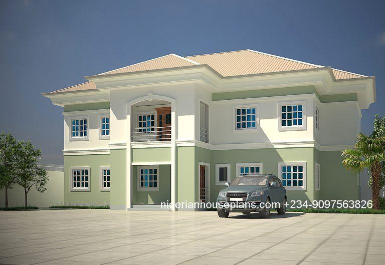 5 Bedroom Duplex Ref 5013 Nigerianhouseplans House Plans Mansion Modern Bungalow House Duplex House Plans