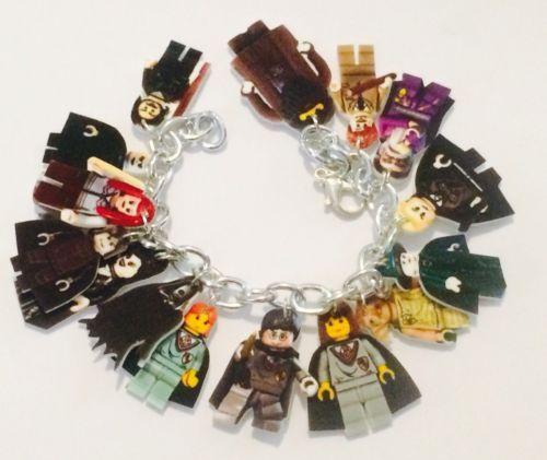 Harry-Potter-Lego-Inspired-Loaded-Handmade-Bracelet-Plastic-Charms