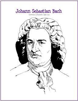johann sebastian bach composer coloring page httpmakingmusicfunnet