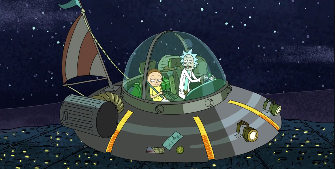 Image result for rick and morty car