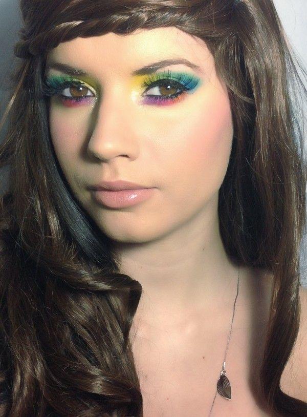 ff1744b66 Maquillaje de Hippie Carnaval 2016, paso a paso | Vestuario hippie ...