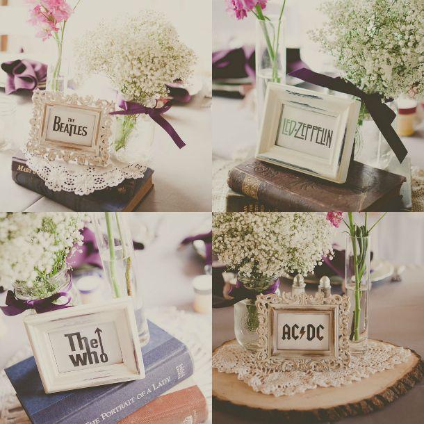 Band Table Name Wedding Idea Wedding Table Names Wedding Table
