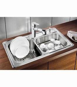 Lavello rettangolare da cucina acciaio inox blanco plenta for ...