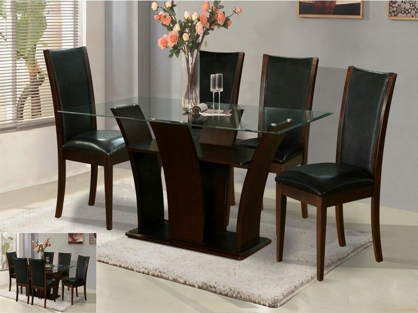 28+ Modern glass dining table set Inspiration
