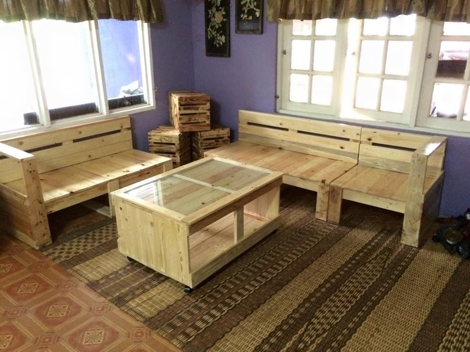 40 Creative Wood Pallet Furniture Ideas For Living Room Pallet Furniture Living Room Living Room Sets Furniture Pallet Ideas For Living Room