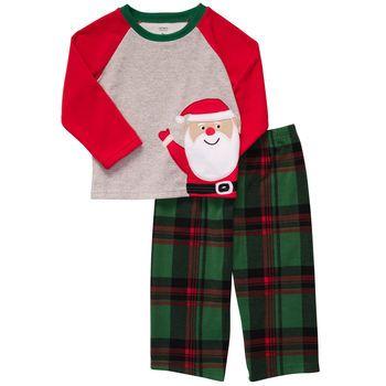 a68b3043b Cute Santa pajamas-- 2-Piece Microfleece Pj s