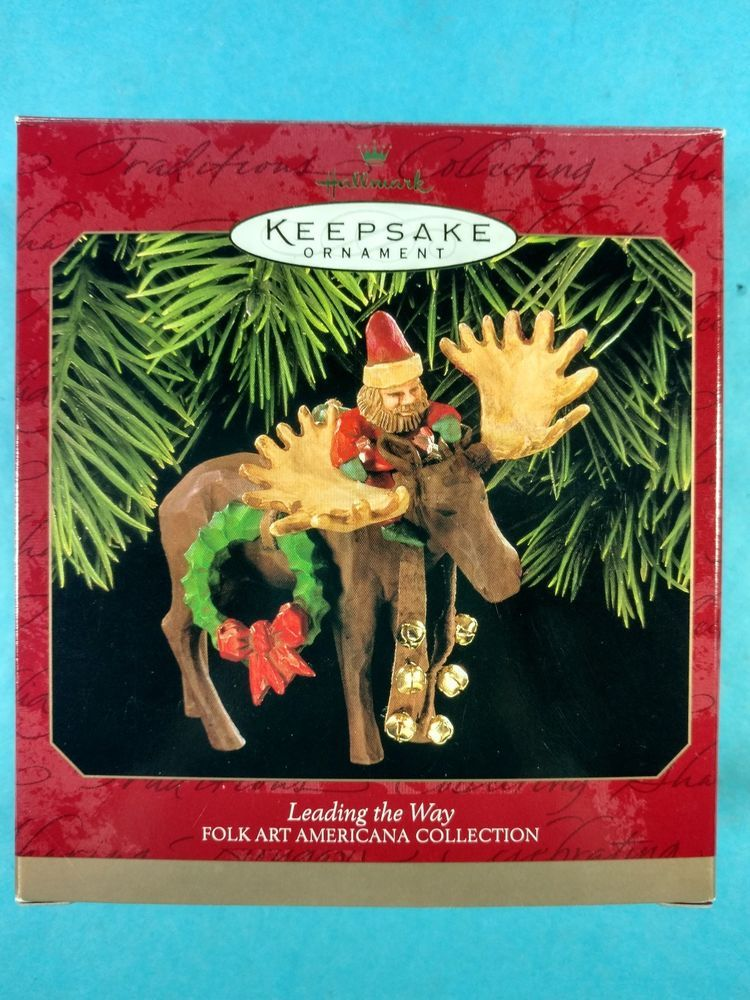 da Hallmark Collectible Christmas Ornament Leading Way Moose Folk Art  Americana #Hallmark - Details About Da Hallmark Collectible Christmas Ornament Leading Way