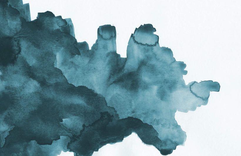 Teal Watercolor Wallpaper Mural | Murals Wallpaper