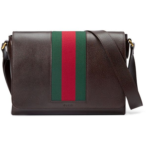 a35a8bcfa263 Gucci Textured Leather Messenger Bag w Web ( 1