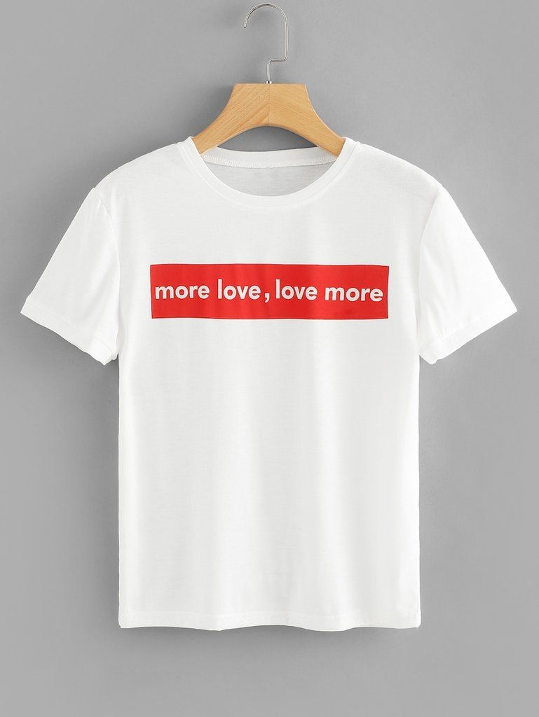 7b9e8ed0 More Love, Love More T-shirt in 2019 | Boutique | Printed tees, T ...