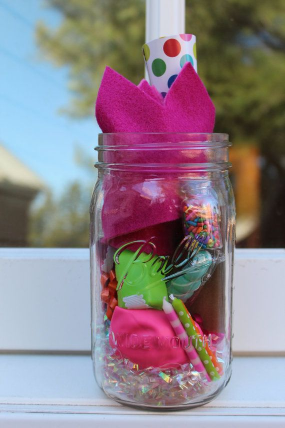 private party birthday jar by anniepoppinsshop on Etsy