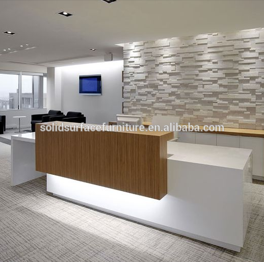 Custom modern beauty salon reception desk office front for Office counter design