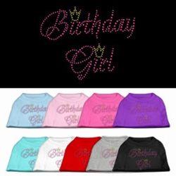 Birthday Girl Rhinestone Shirt for dogs, Dog Birthday Apparel, Dog Birthday Gifts
