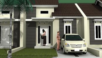 type 36 1 lantai tampak depan terbaru | minimalist house