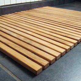Teaktræ måtte, 60x80 cm., Cinas