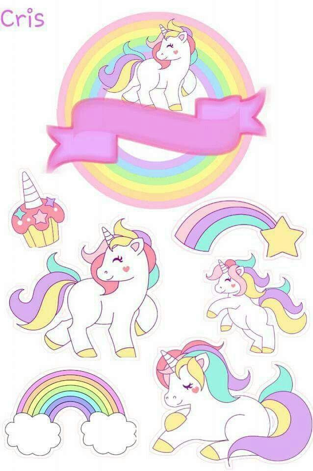 Topper | unicornios | Pinterest | Unicornio, Unicornios y Cumple