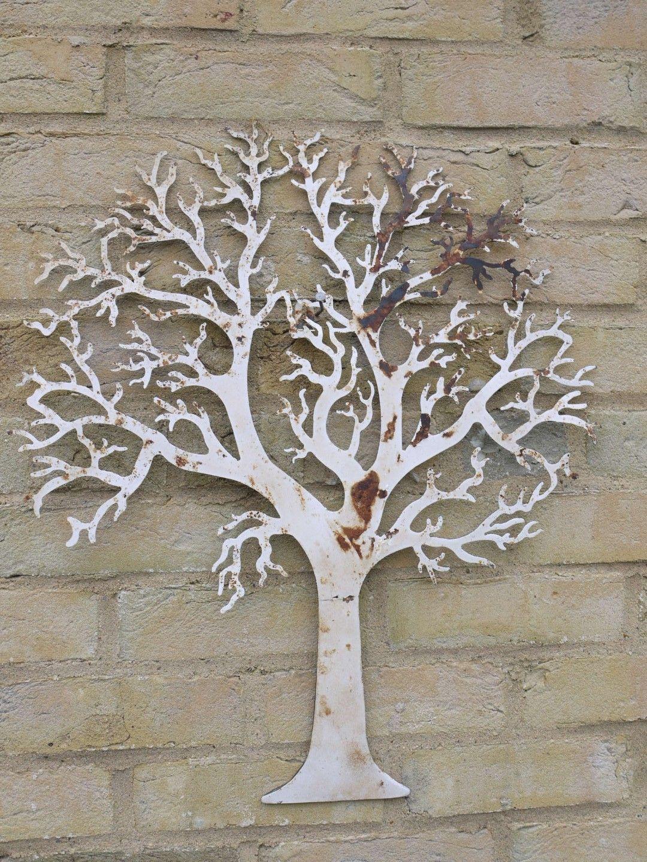 Boom muurdecoratie metaal levensbomen pinterest - Deco muurdecoratie ...