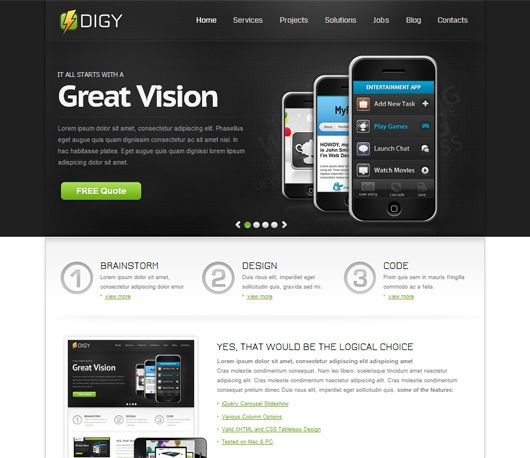 Digy free html5 css3 premium responsive template html 5 pinterest digy free html5 css3 premium responsive template maxwellsz
