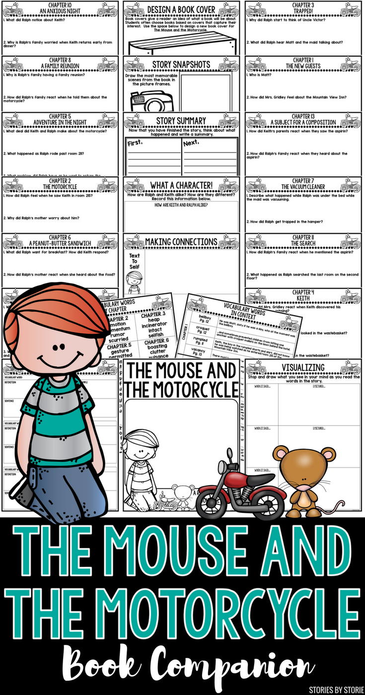 This Book Companion For The Mouse And The Motorcycle By Beverly Cleary Contains Comprehension Quest Mouse And The Motorcycle Book Study 2nd Grade Chapter Books [ 1400 x 735 Pixel ]